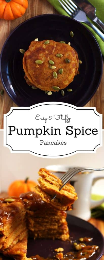 Pumpkin Spice Pancakes - Fragrant, delicious, fluffy and easy to make pumpkin spice pancakes with an awesome twist that will keep you coming back for more !