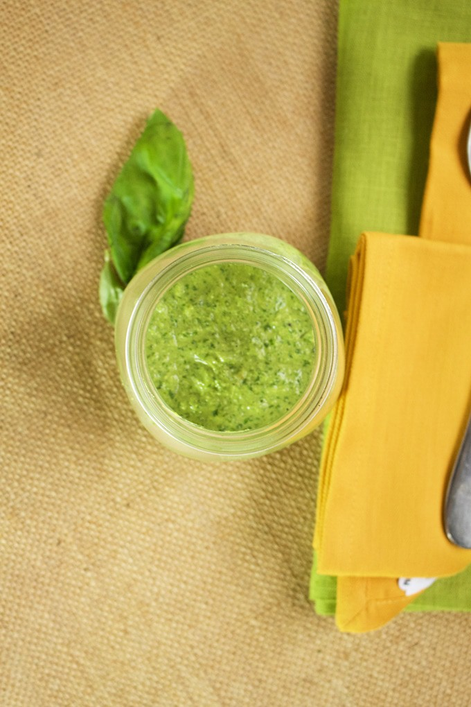 This vegan basil pesto is one of my favourite pasta sauces (and pizza). Once you learn how to make it without using any cheese, you will not look back.