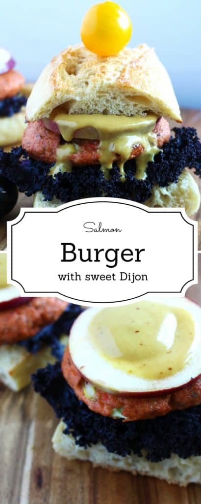 Salmon Burger- This salmon burger is a game changer ! It combines the savoury and subtle taste of salmon and awesome twist on the classic Dijon -IdrissTwist.com