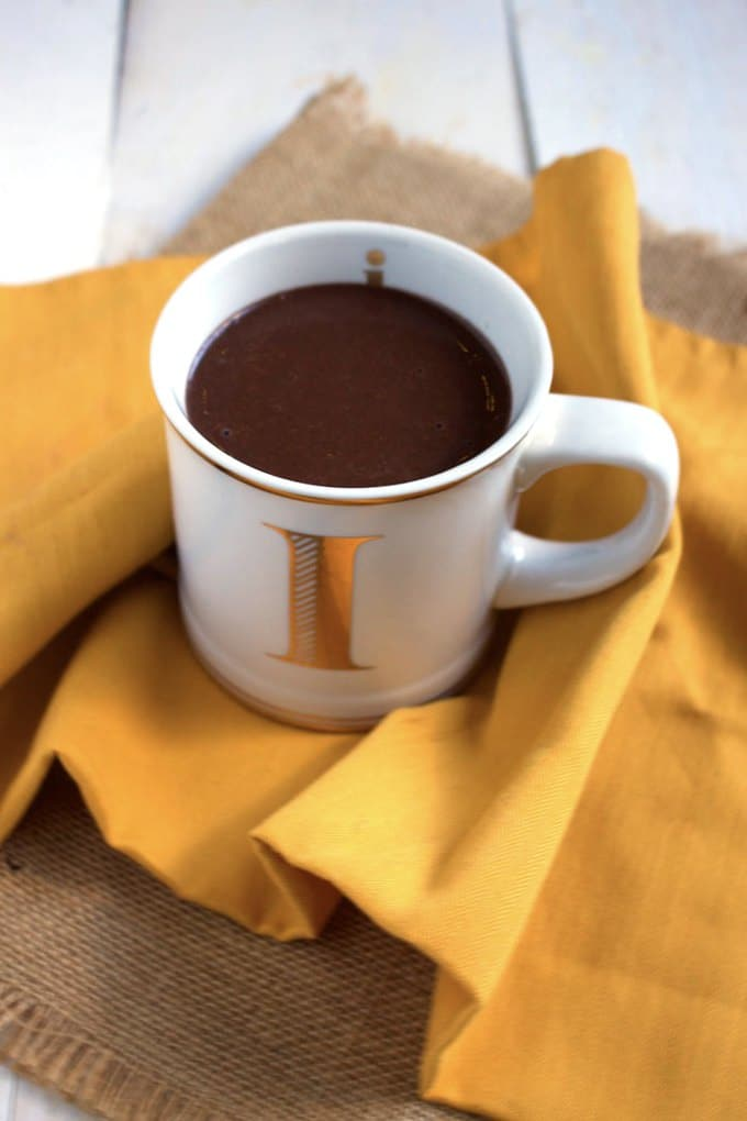The best vegan hot chocolate - Boosted with one of my favourite ingredients, this drink is rich in nutrients and will satiate your chocolate craving