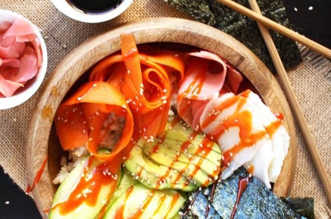 Easy Vegan Sushi Bowls