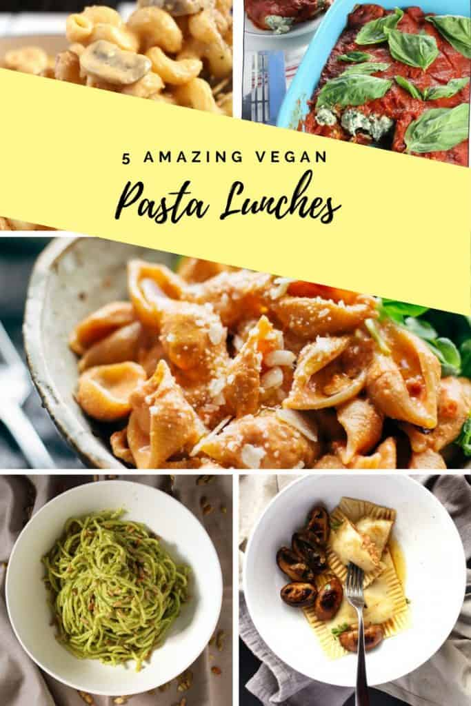 5 Amazing Vegan Pasta Lunches // This is a great compilation for some of my favorite vegan pasta recipes.