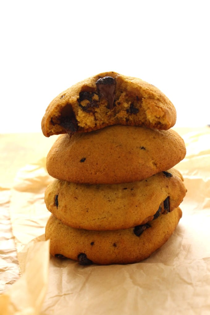 Chocolate Chip Pumpkin Cookies with a Dark Chocolate Ganache Drizzle. Need I say more? Oh yeah, vegan friendly!