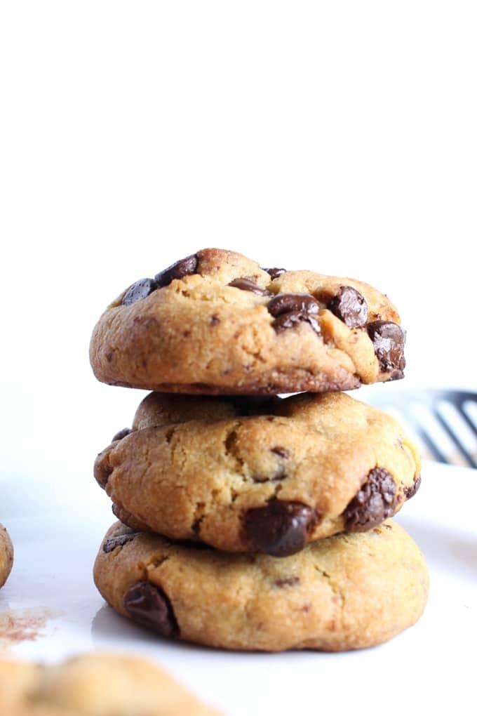 The Best Vegan Chocolate Chip Cookies Soft Chewy Broke Foodies