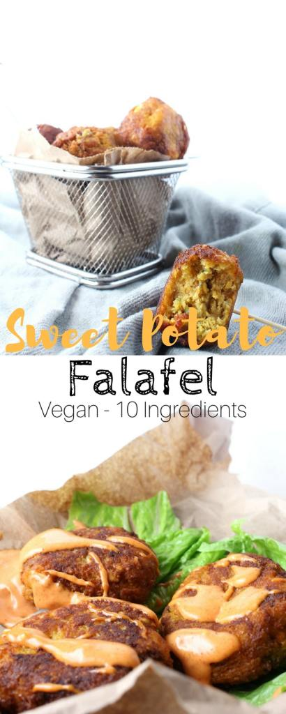 Sweet Potato Falafel - These Vegan Falafel are easy and take almost no time to have ready on the table. Only 10 Ingredients.
