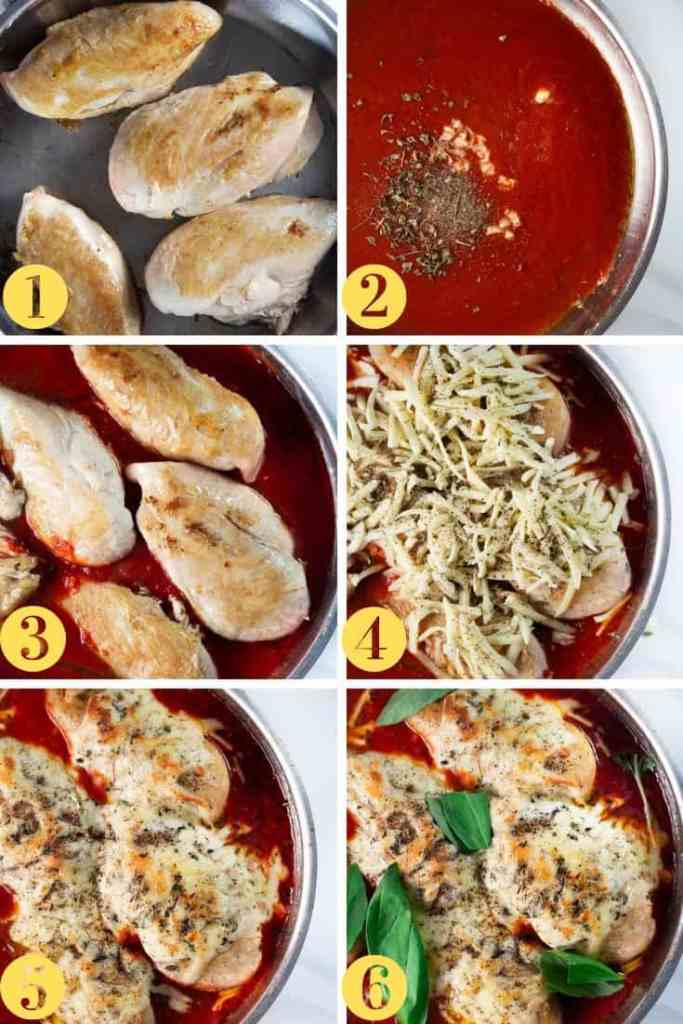 Low Carb Chicken Parm Step by Step photos