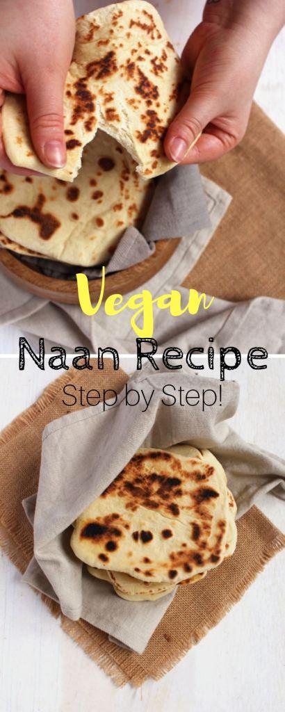 Easy Recipe for Vegan Naan Bread.
