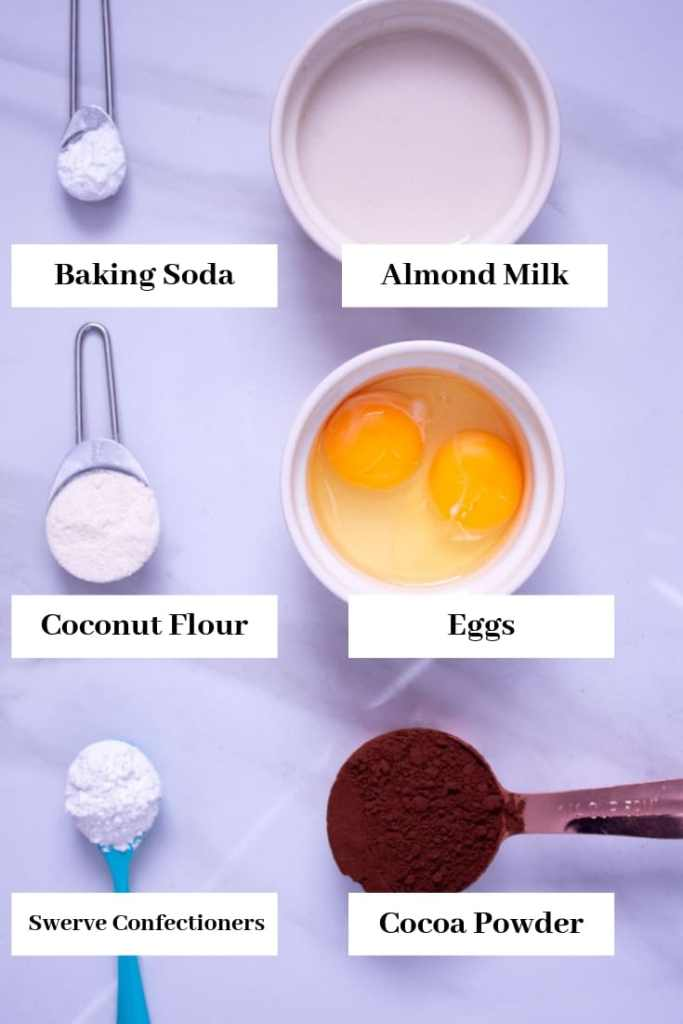 Quick Keto Mug Cake Ingredients