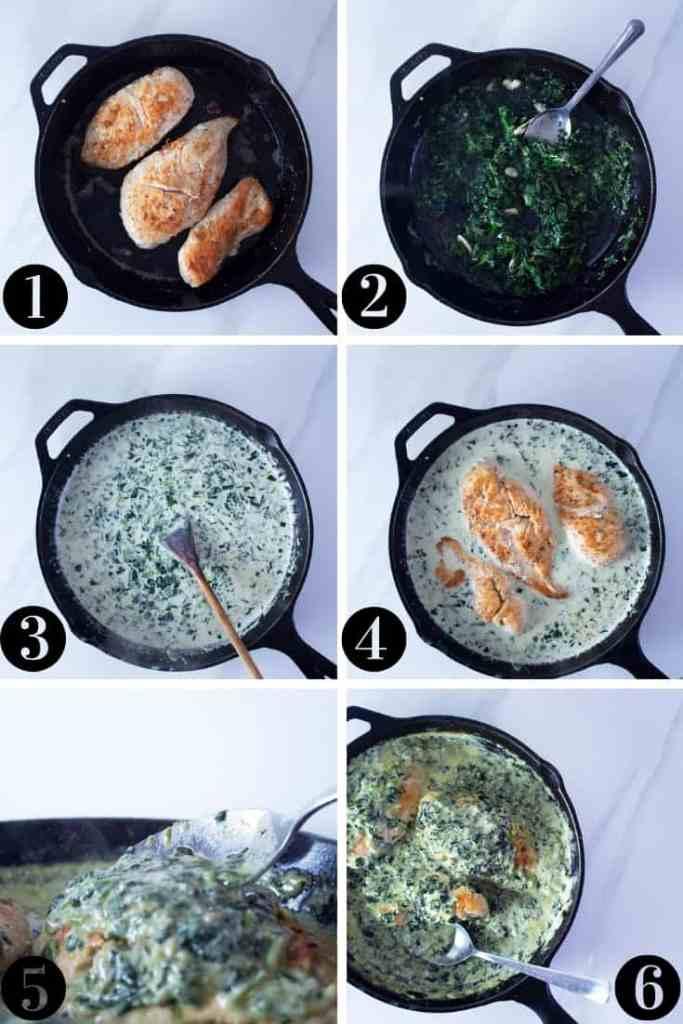 Keto Chicken Florentine Step By Step Instruction Photo