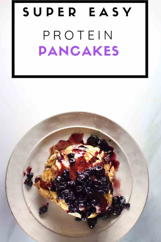 Super Easy Protein Pancakes   Sugar-Free and Protein High Pancakes Recipe with a Speed Homemade Jam.