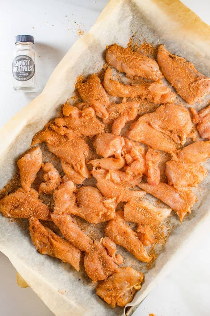 Chicken Breast Strips with Smokey Chipotle Dry Rub