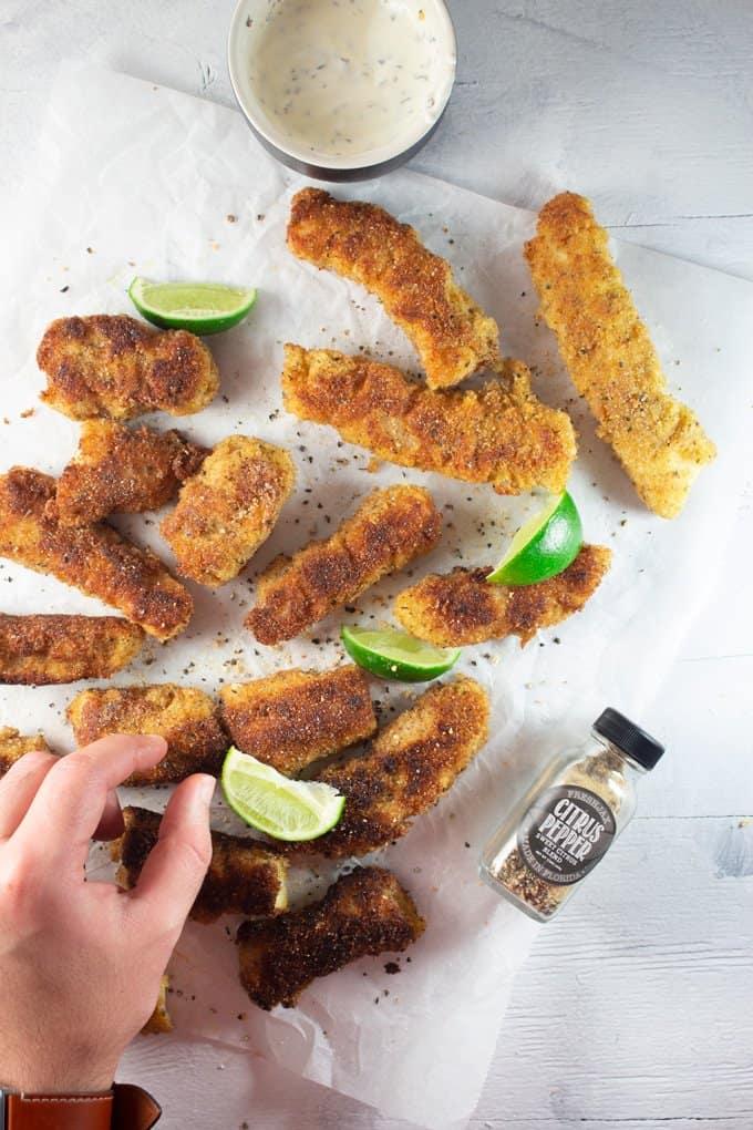 Crispy Keto Fish Sticks Meal