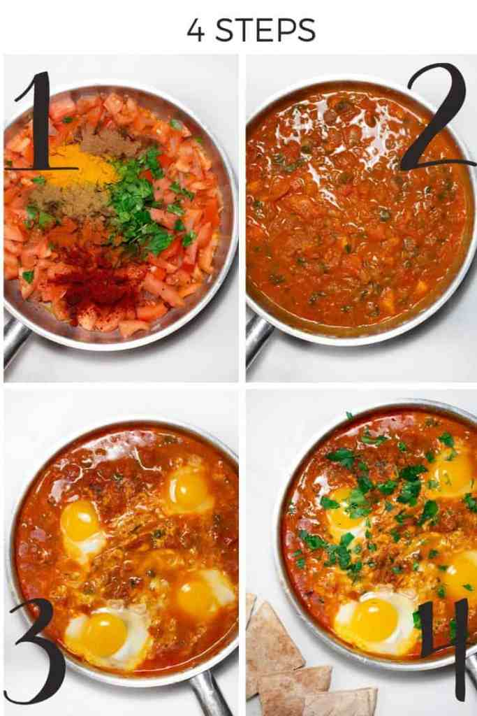 Spicy Moroccan Eggs Step by step