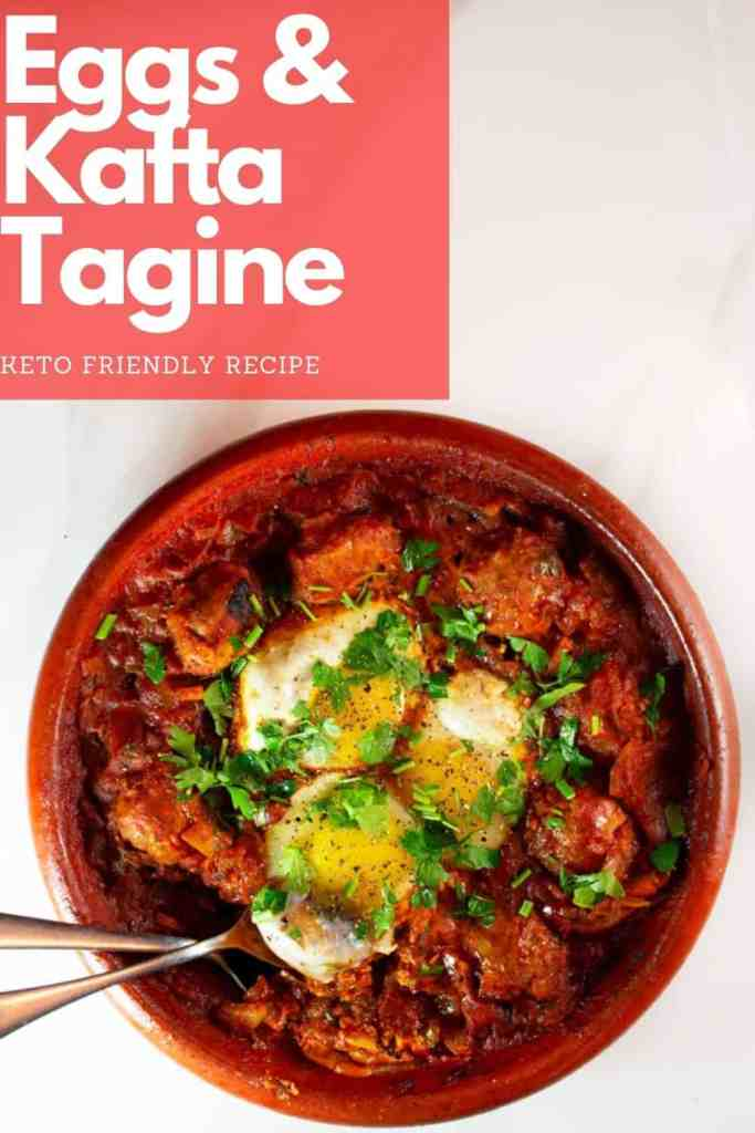 Eggs & Kafta Tagine is extremely popular. It's made often in Morocco and everyone looks forward to it. The combination of egg, tomato sauce and meatballs is always mind blowing. You'd be hard-pressed to find someone who wouldn't like this dish. #kafta #tagine #eggs #keto #low-carb #easy #dinner #recipe