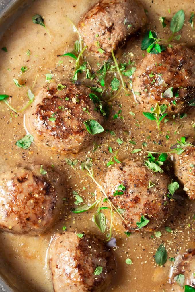 Whole30 Swedish Meatballs in sauce