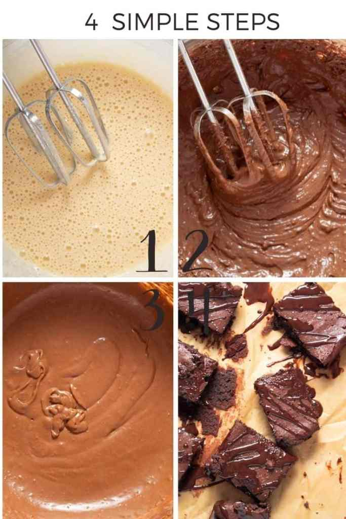Paleo Brownies Simple Step by Step collage