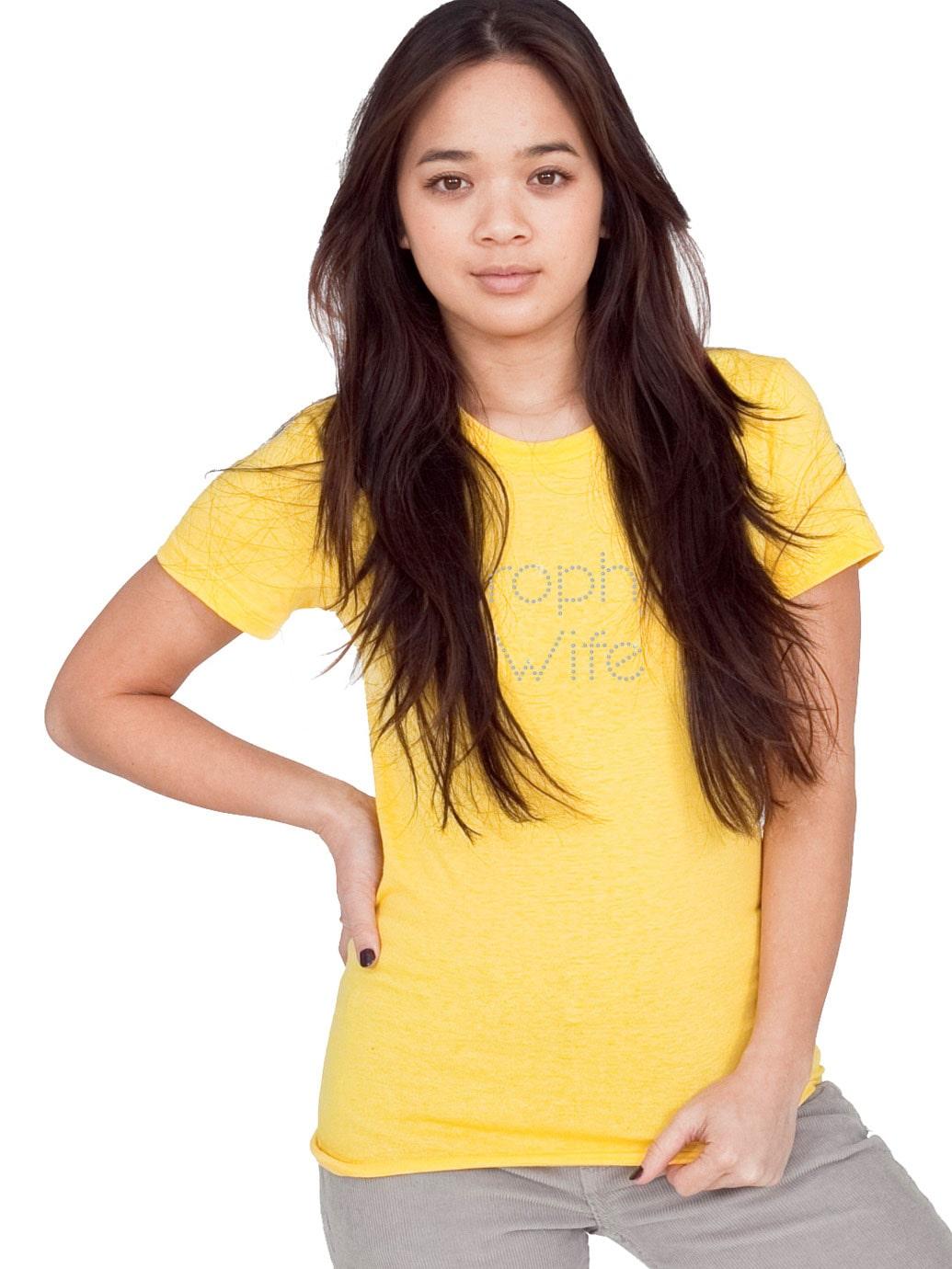 Trophy Wife Bling T Shirt Tanktops No Minimum Rhinestone