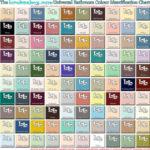Bathroom colourchart all colours