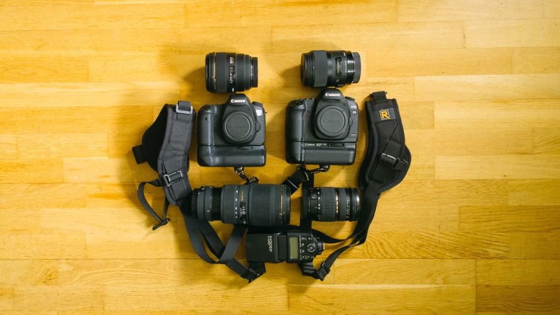 utrustning brollopsfotograf
