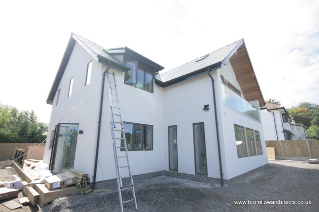 New build house from Road