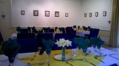 Drawing room set up for luncheon 2015