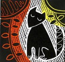 Sitting Fox - Linocut Print - by Laura Weston