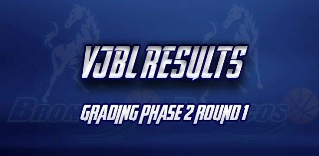 grading phase 2 round 1 broadmeadows broncos results