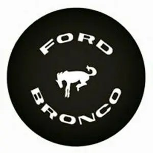black bronco tire cover