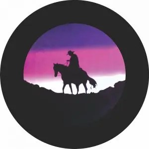 Lonesome Cowboy Tire Cover