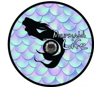 Mermaid Life Tire Cover