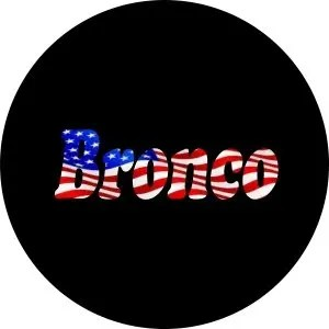Bronco USA Flag Tire Cover