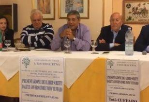 BRONTE: L'EX GOVERNATORE CUFFARO PRESENTA I LIBRI SCRITTI IN CARCERE