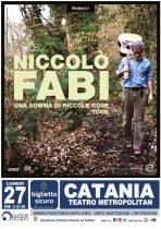 CATANIA: PARTE CON NICCOLO' FABI LA STAGIONE LIVE DI PUNTOEACAPO CONCERTI