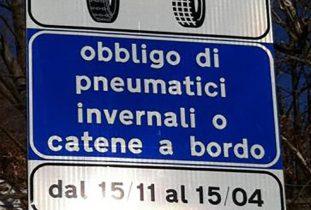 SICILIA: DAL 15 NOVEMBRE OBBLIGO DI CATENE O PNEUMATICI DA NEVE, LE STRADE INTERESSATE