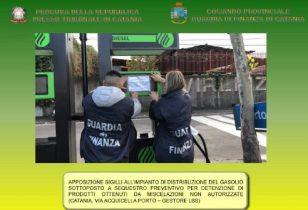 CATANIA: GDF SEQUESTRA GASOLIO ADULTERATO E DELLE POMPE DI GASOLIO, 4 ARRESTI