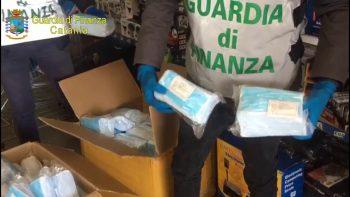 MISTERBIANCO: GDF SEQUESTRA 10 MILA MASCHERINE NON CONFORMI