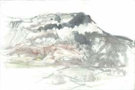 Moel Y Gest- snow. Drawing