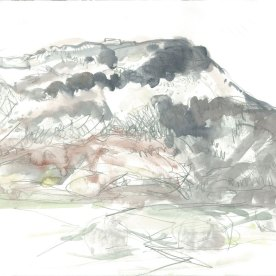 Moel Y Gest- snow. Drawing