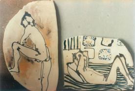 Ceramic cuerda seca sketches