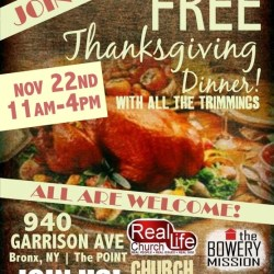 Volunteers needed for Thanksgiving dinner