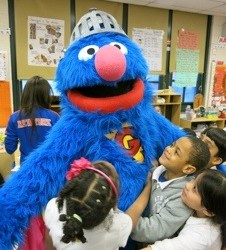 Super Grover and the Garden of Dreams Foundation teach children facing obstacles how they can be super heroes too!