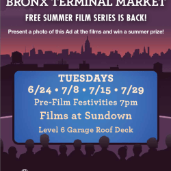 Rooftop Films at Bronx Terminal Market Free Summer Film Series