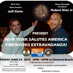 Fireworks at Orchard Beach 2014
