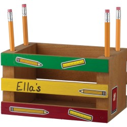 Build a Mini-Crate Pencil Holder at Home Depot