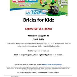 Bricks 4 Kidz Event at the Parkchester Library