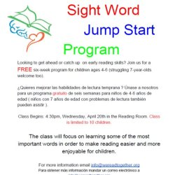 Sight Word Jump Start Program