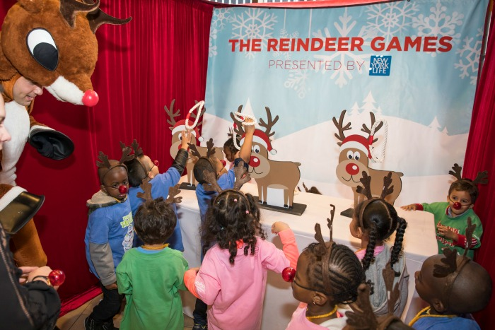 October 19, 2016: Children from the Garden of Dreams Foundation compete in The Reindeer Games to promote the Rudolph The Musical