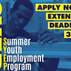 Application Deadline Extended for the 2017 Summer Youth Employment Program (SYEP)
