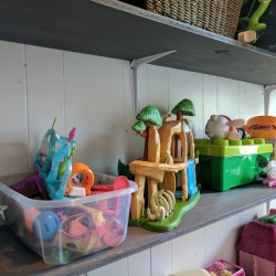 DIY Wall Shelving For A Small Playroom