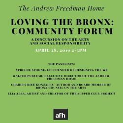 Loving the Bronx: A Community Forum Hosted at The Andrew Freedman Home